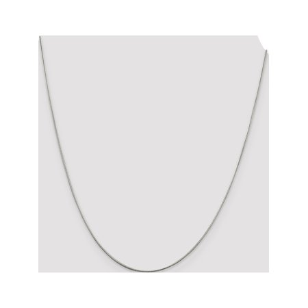 925 Sterling Silver Rhodium-plated .8mm Round Snake Chain - image 1 of 3