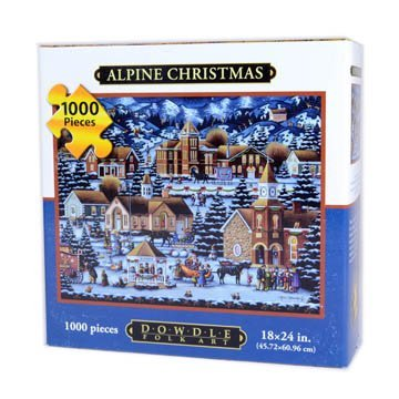 Dowdle Alpine Christmas 1000 Piece Puzzle, THE SEASONS COLLECTION. From Halloween to Thanksgiving to Christmas, enjoy the festivities of the.., By Dowdle Folk Art