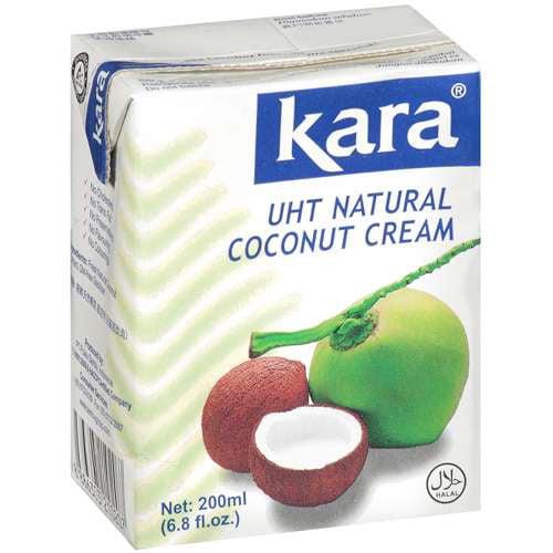 (3 Pack) Kara Uht Natural Coconut Cream, 6.80 fl oz
