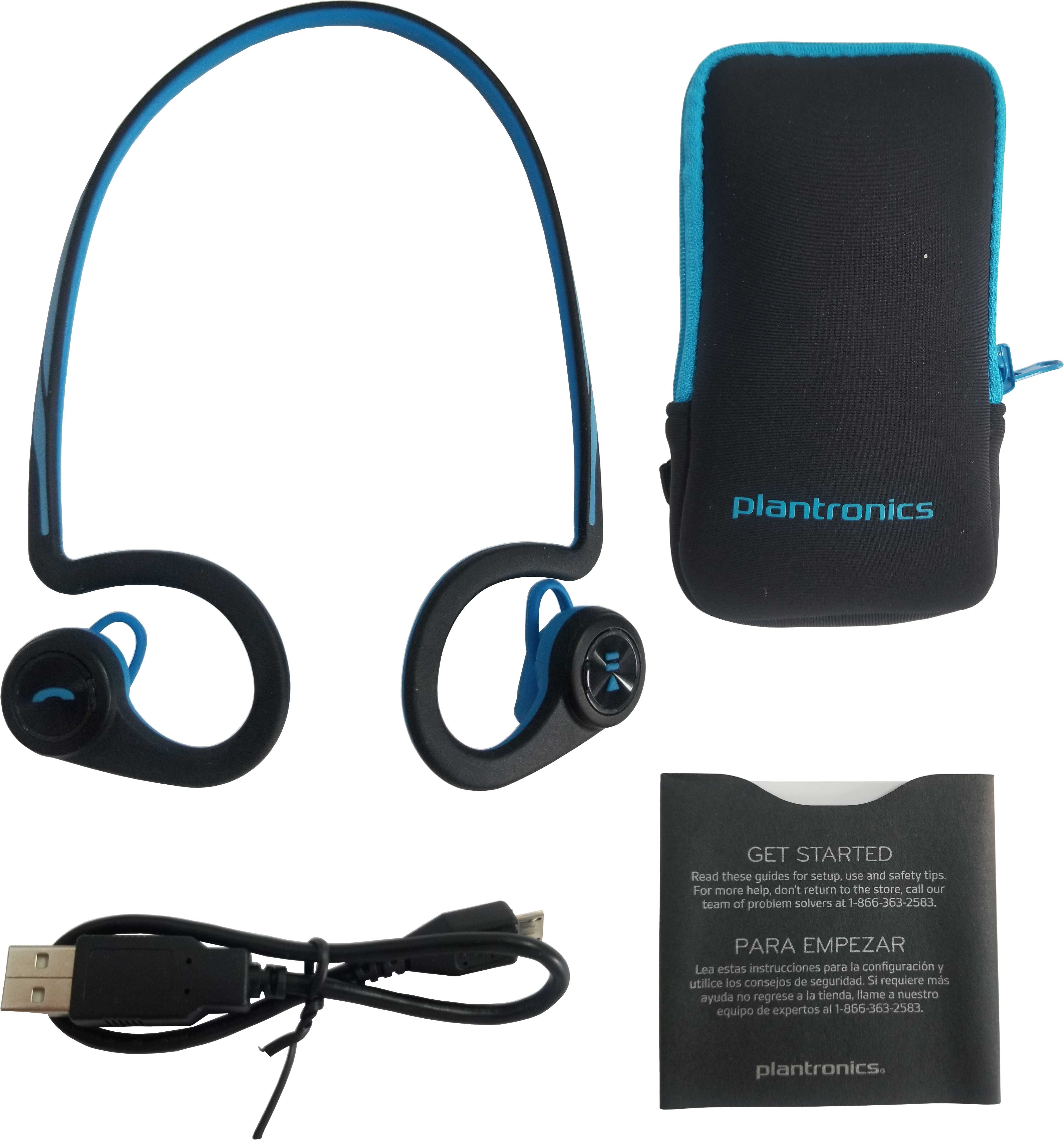 Plantronics Backbeat Fit Stereo Bluetooth Wireless Headphones Sweat