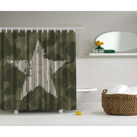 Southwestern Primitive Military Camouflage Patriotic Husband Gift Shower Curtain
