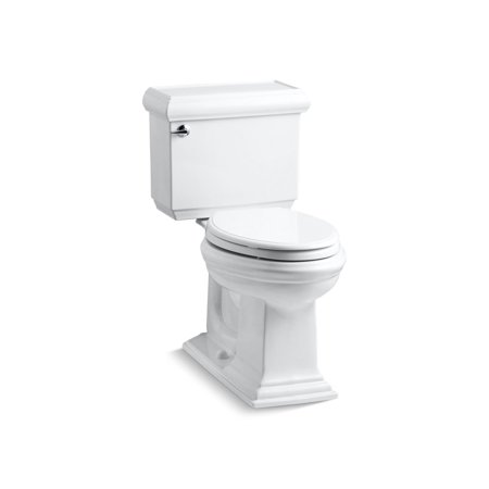 Kohler Memoirs Classic Comfort Height Two-Piece Elongated 1.6 Gpf Toilet with Aquapiston Flush Technology and Left-Hand Trip Lever, Seat Not Included, (Best Kohler Toilet Reviews)
