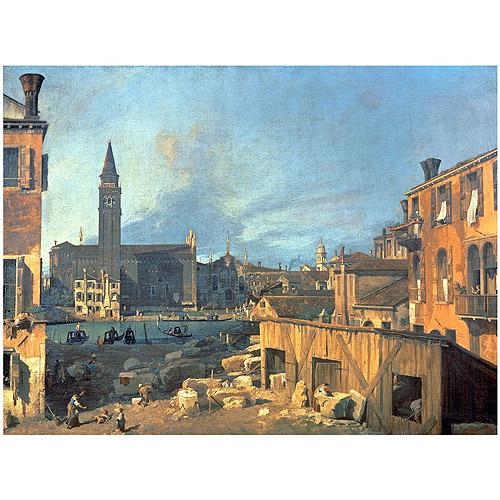 """Trademark Fine Art """"Campo San Vidal and Santa Maria della Carita"""" Canvas Art by Canaletto"""
