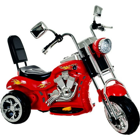 3 Wheel Chopper Motorcycle Trike  Ride On Toy For Kids By Rockin Roller   Ride On Toys For Boys And Girls  2   4 Year Old   Battery Powered   Red