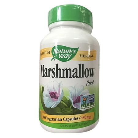 Natures Way Marshmallow Root 480 Mg Capsules - 100 Ea