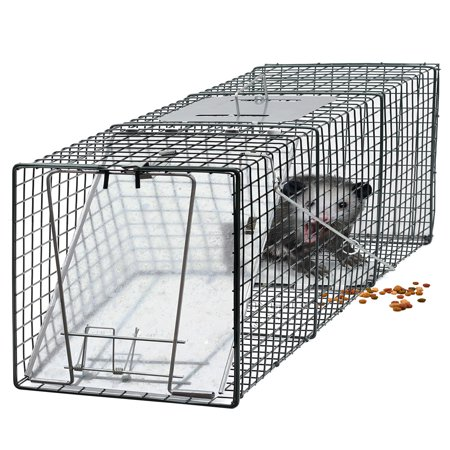 "OxGord Live Animal Trap 24"" X 7"" X 7"" GFA Catch and Release Humane Rodent Cage for Rabbits, Stray Cat, Squirrel,"