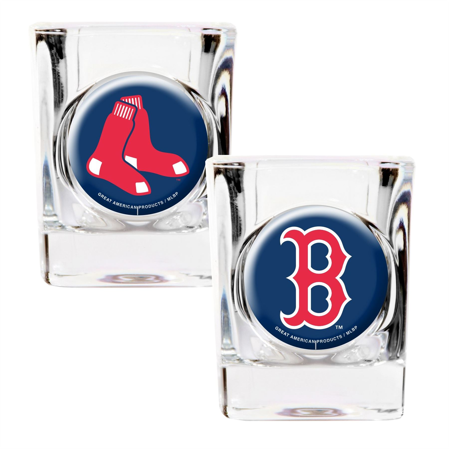 Great American Products MLB Boston Red Sox 2-Pack Shot Glass Gift Set