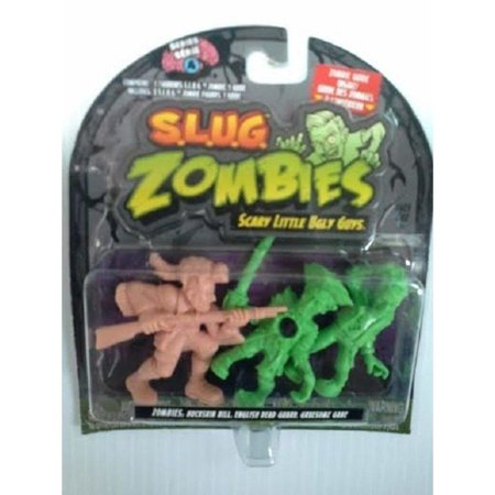S.L.U.G. (Slug) Zombies Figures 3-Pack (Series 4) Buckskin Bill, English Dead Guard, Gruesome Gabe