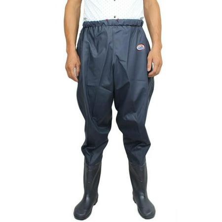 Mens Waterproof Thicken Waist Wading Pants Overalls Waders Boot Fishing Hunt