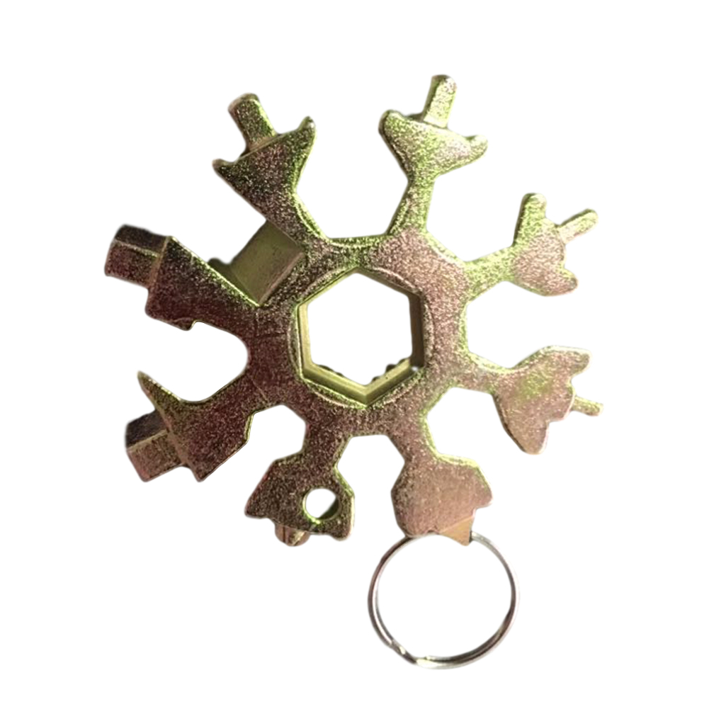 18 In 1 Stainless Tool MultiTool Portable Snowflake Shape Key Chain Screwdriver