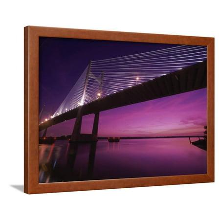Dames Point Bridge Jacksonville Florida Usa Framed Print Wall Art