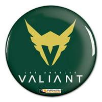 "Los Angeles Valiant WinCraft Team Logo 3"" Button Pin - No Size"