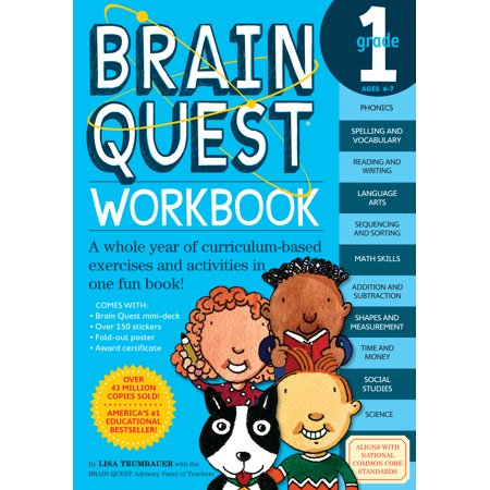 Brain Quest Workbook: Grade 1 [With Stickers] (Paperback)