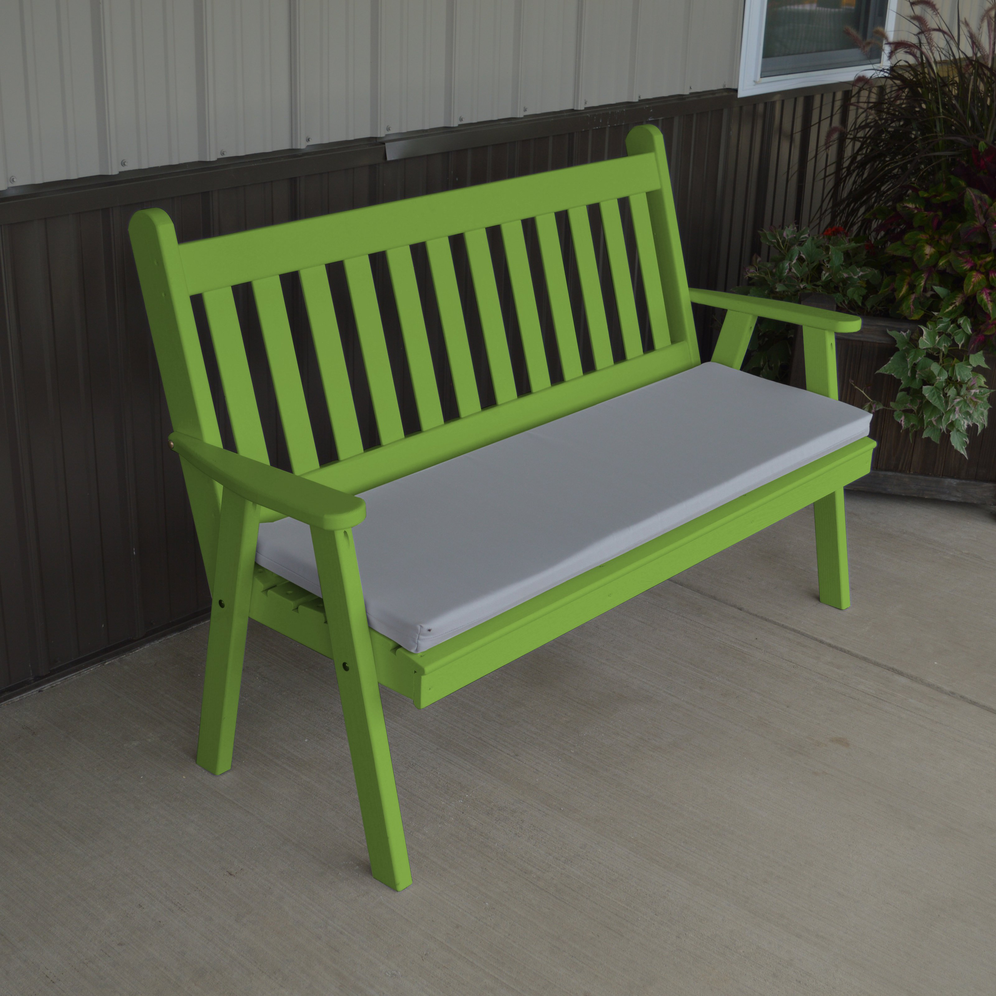 A; L Furniture Yellow Pine Traditional English Garden Bench