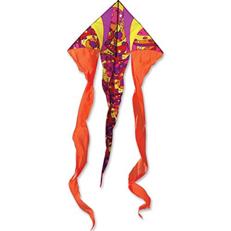 Premier Kites 6.5' Flo Tail Deltas- Warm Orbit