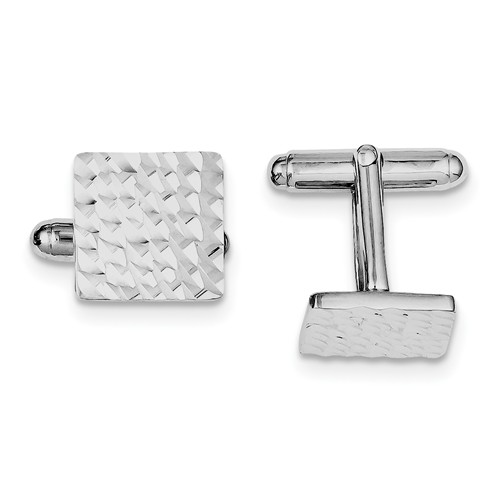 Sterling Silver D/C Square Cuff Links