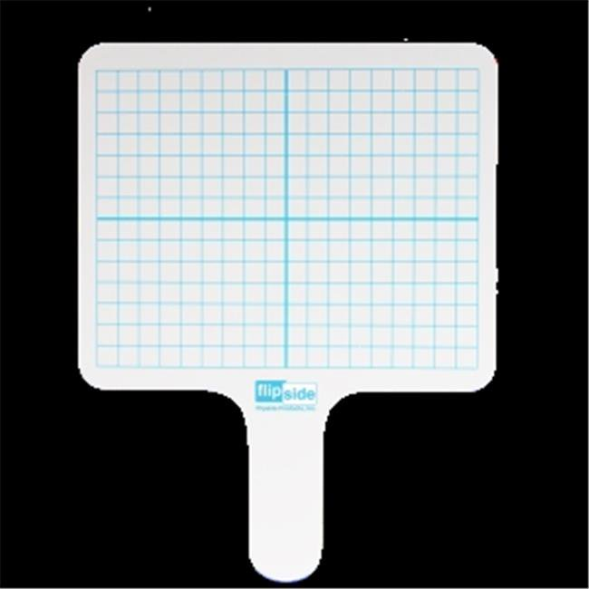 Flipside Products 18244 Rectangular Graph Dry Erase Answer Paddle - Pack of 24