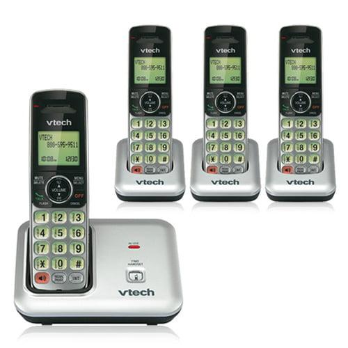 VTech CS6419 + (3) CS6409 DECT 6.0 Four Handsets Cordless Phone 5 Handsets Expandable Wall Mountable