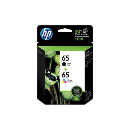 HP 65 2-pack Black/Tri-color Original Ink - 6 Pack Black Printer Ribbon