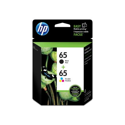 HP 65 2-pack Black/Tri-color Original Ink Cartridges ()