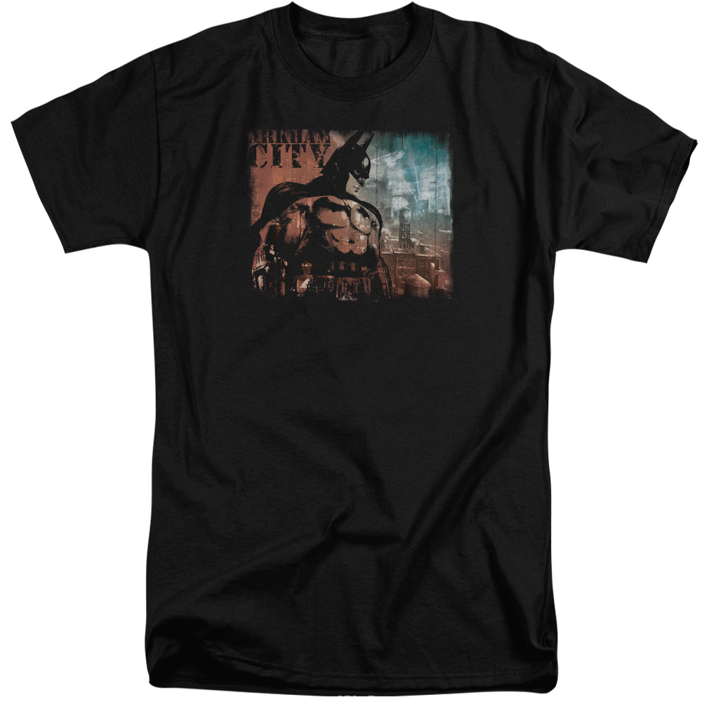 Arkham City City Knockout Mens Big and Tall Shirt