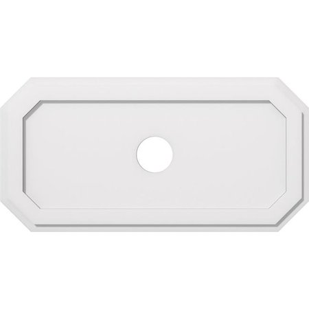 Ekena Millwork CMP34X17ED-04000 4 in. ID x 11.75 in. Rectangle Emerald Architectural Grade PVC Contemporary Ceiling Medallion - image 1 of 1