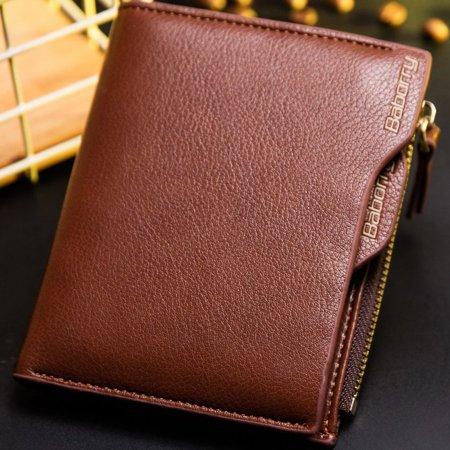 Antimagnetic Men Wallet Anti RFID Male Zipper Purse Short PU Leather Wallet - image 7 de 10