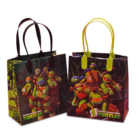 Ninja Turtle Gift Bags Party Bags Plastic Gift Bags | Quantity: 12 | Width: 6 1/4