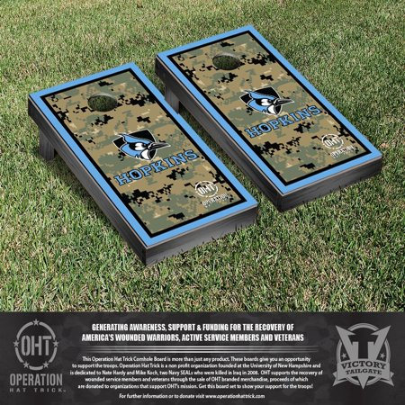 Operation Hat Trick Johns Hopkins Blue Jays Cornhole Game Set Border Version