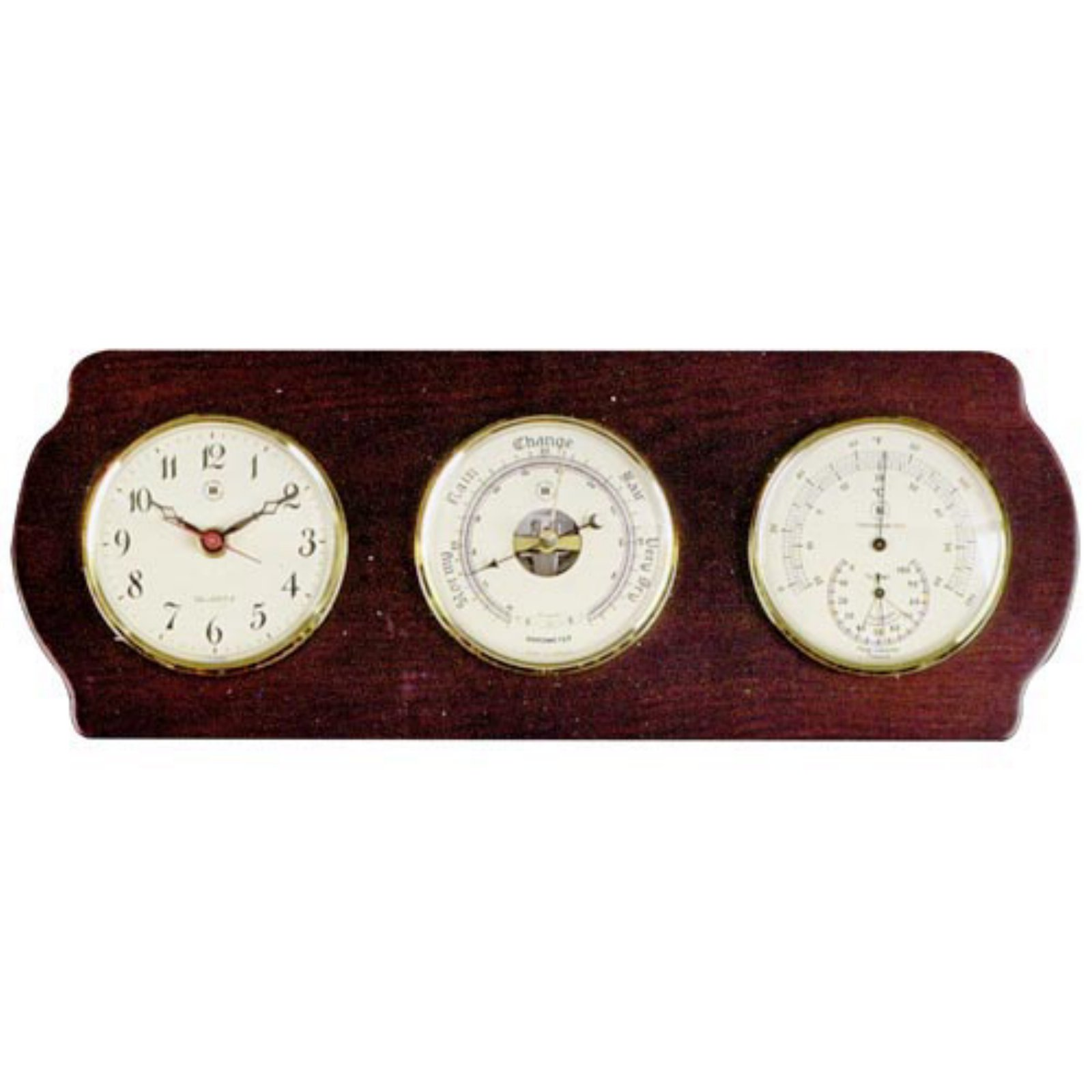 Bey Berk Mannon Weather Station Wall Clock