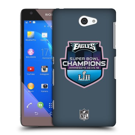 OFFICIAL NFL 2018 SUPER BOWL LII CHAMPIONS HARD BACK CASE FOR SONY PHONES 4