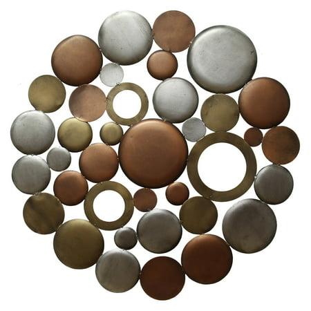 Stratton Home Decor Multi Metallic Circle Burst Wall