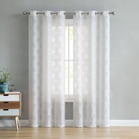 02e0e97c0e70 Product Image VCNY Home Carly Semi Sheer Grommet Top Curtain Panels -  White, 84 in. Long