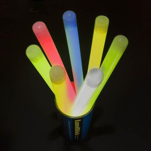 "Lumistick 12"" Jumbo Glow Sticks, Assorted Colors, 40 ct"