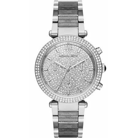 c99cbc923 Michael Kors - Women's Parker Chronograph Glitz Watch MK6284 - Walmart.com