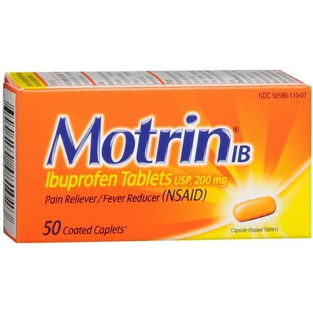 Motrin Ib Caplets (3 Pack - Motrin IB Coated Caplets 50 ea )