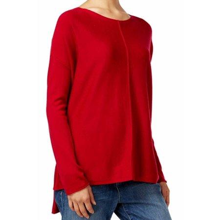 3d4fdd8866a Eileen Fisher NEW Red Womens Size Medium M Scoop Neck High-Low Sweater -  Walmart.com