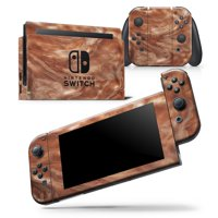 Modern Marble Copper Metallic Mix V6 - Skin Wrap Decal Compatible with the Nintendo Switch DSI XL (2009)
