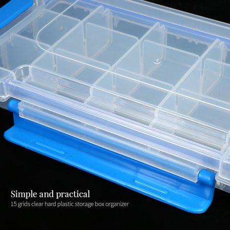 Boîte de rangement en plastique transparent Boîte multi-compartiments Slot Hardware Boîte à outils Organisateur de bijoux Boîte aux outils pour composants électroniques Boîte de pêche Accessoires de p - image 7 of 7