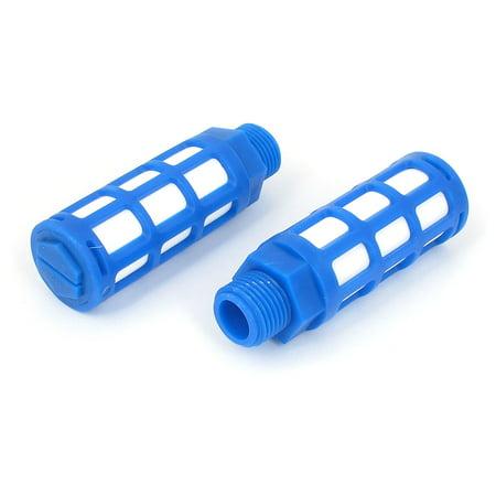 Pneumatic Exhaust Muffler - 1/2BSP Male Thread Plastic Pneumatic  Muffler Noise Exhaust Blue 2pcs