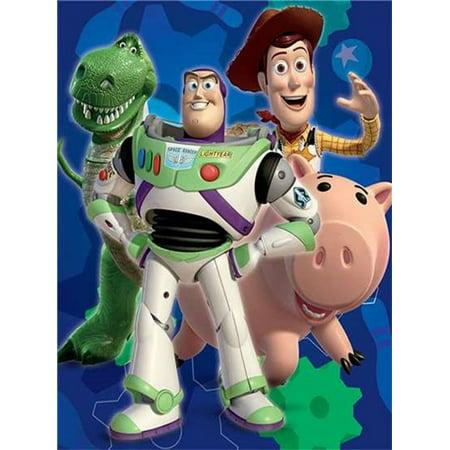 Disney TOY STORY Plush Ultra Soft Toddler Raschel Blanket 40