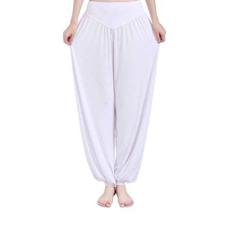 a0b11bd620 Elenxs - Women High Waist Yoga Pants Loose Belly Dance Bloomer Modal Solid Tai  Chi Pants - Walmart.com