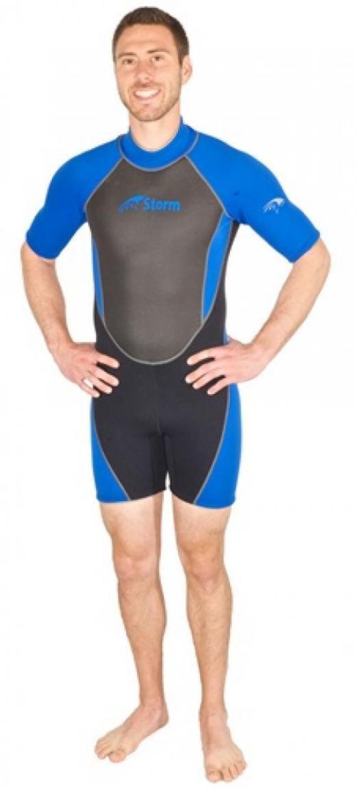 Storm Men's 2mm Snorkel Scuba Water Sports Shorty Wetsuit by Storm Accessories