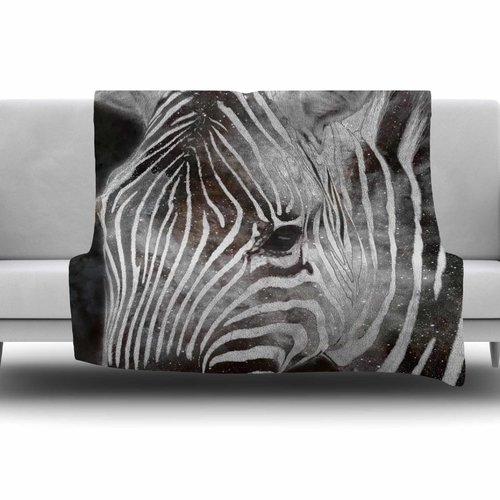 East Urban Home Space Zebra by Suzanne Carter Fleece Blanket
