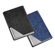 Stainless steel oracle grain pu leather metal magnet cover business stainless steel oracle grain pu leather metal magnet cover business cards holder pockets case card id colourmoves Choice Image