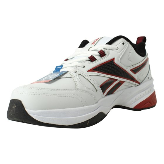 New Reebok Mens Royal Trainer 4E White Black ExcellentRed Running 4c5c7667b