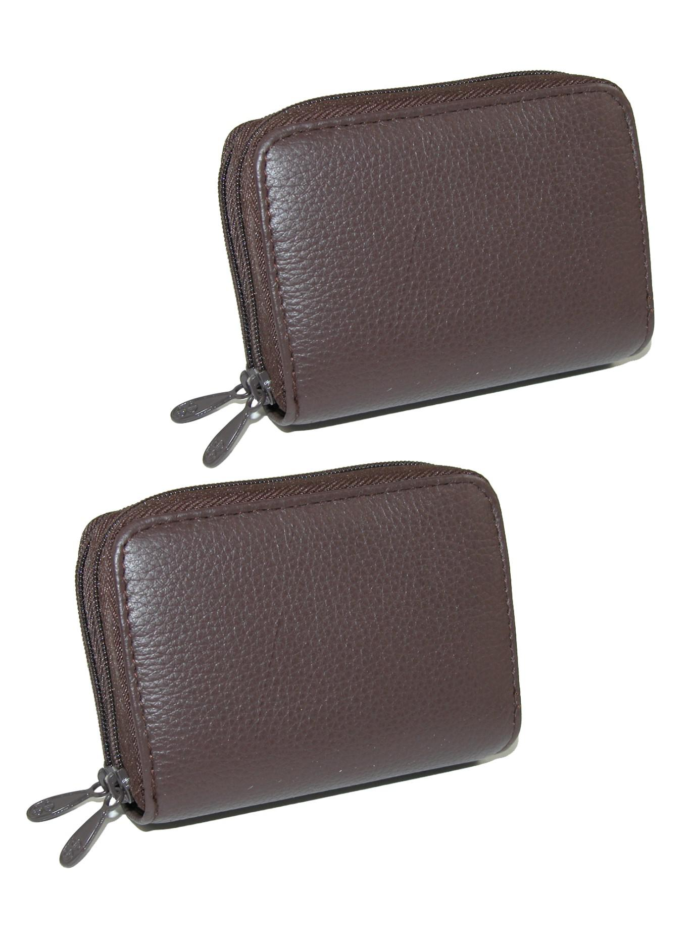 Buxton Womens Mini Leather Credit Card ID Wizard Wallet Purse Christmas Design