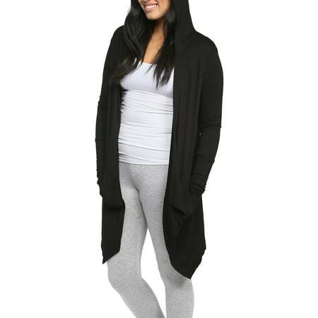 24/7 Comfort Apparel Women's 2-Pocket Hooded Shrug