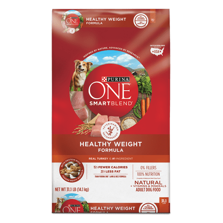 Purina ONE Weight Management, Natural Dry Dog Food; SmartBlend Healthy Weight Formula - 31.1 lb. (Fresh Healthy Food Snacker)