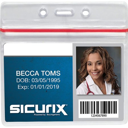 Baumgartens Sicurix Sealable ID Badge Holders